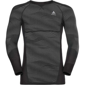Odlo Suw Performance Blackcomb LS Top Crew Neck Men black-odlo concrete grey-silver